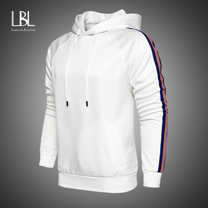 Fashion Hoodies Men 2020 New Sweatshirts Brand Solid Patchwork Sleeve Print Male Hoodie Hip Hop Streetwear Hoodies Men Clothes