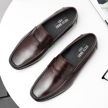 Letnie luksusowe formalne buty męskie męskie wkładane buty czarne męskie wygodne buty z prawdziwej skóry męskie buty sukienka zapatos tanie i dobre opinie OLOME Skóra bydlęca Stałe Dla dorosłych 2020030501 Świńskiej Plac toe RUBBER Slip-on Skóra licowa Pasuje prawda na wymiar weź swój normalny rozmiar