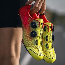 Santic 12 klasy obuwie rowerowe z włókna węglowego mężczyźni Ultralight buty rowerowe oddychające samoblokujące PRO zespół rajdowy buty rowerowe tanie tanio EMONDER CN (pochodzenie) Dla dorosłych Syntetyczny Średnie (b m) Lace-up SAMTOCM-S19008 Pasuje prawda na wymiar weź swój normalny rozmiar