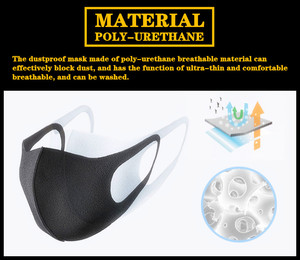 Image 2 - High end mens dust mask Soft Breathable Comfortable Crease proof Colorfast Anti Pilling No iron Super elastic Adult Children