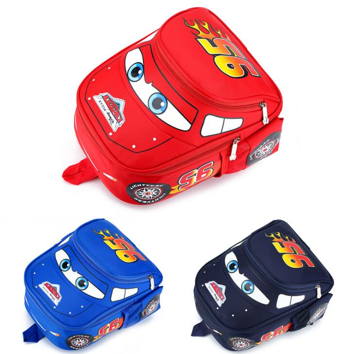 Disney Kindergarten Cartoon Travel Bag 3D Waterproof 95 Car Boys 2-5 Years Old Children Backpack
