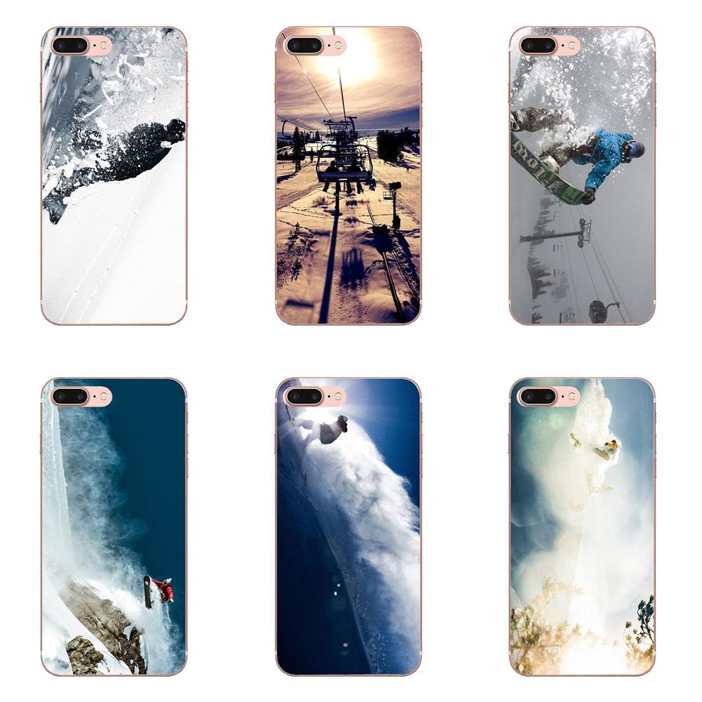 For Galaxy Grand A3 A5 A7 A8 A9 A9S On5 On7 Plus Pro Star 2015 2016 2017 2018 Soft Shell Awesome Love Snow Or Die Ski Snowboard