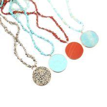 Продолговатый полудрагоценный камень гравий модное ожерелье