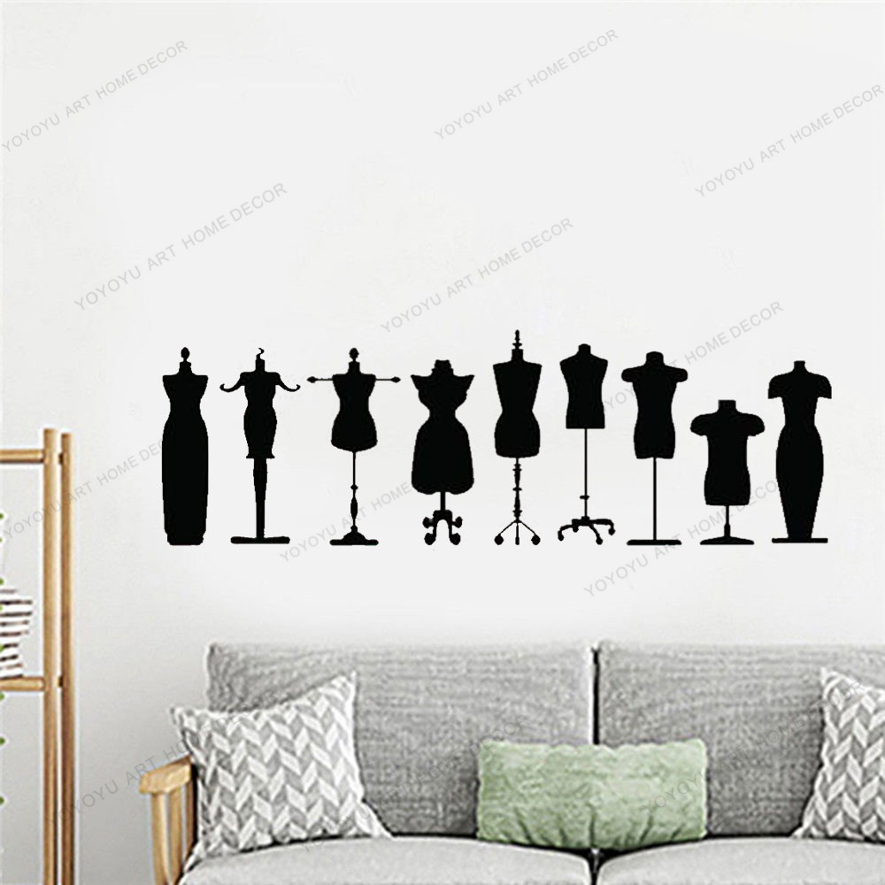 Store Display Body Form Sewing Art Wall Decal Mannequin Display Dress Form Dress Form Mannequin Sewing Decor Seamstress Gift Home