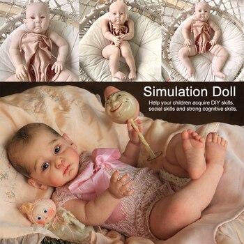Miaio 23inch Big Size Toddler Baby Popular Huxley Reborn Vinyl Doll Kit Unfinished Doll Parts