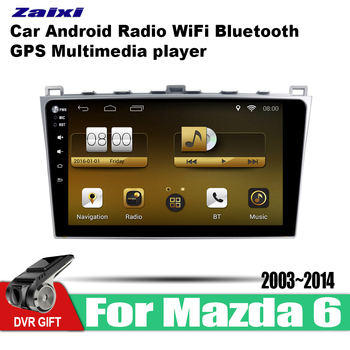 ZaiXi 10.1 Inch 2Din Android Car Radio Wifi Autoradio HD Bluetooth Tochscreen GPS Multimedia Player For Mazda 6 2003~2014 image
