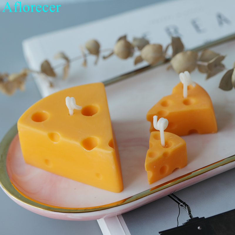 Cheese Candle Molds Christmas Gift Candle Mould Aroma Candle Gypsum Mold For DIY Soap Making
