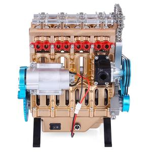 Image 5 - All Metal Car Mini Assemble Inline Four Cylinder Car Engine Model Toys Model Kits Puzzle Toys For Adult Splicing Hobby Building