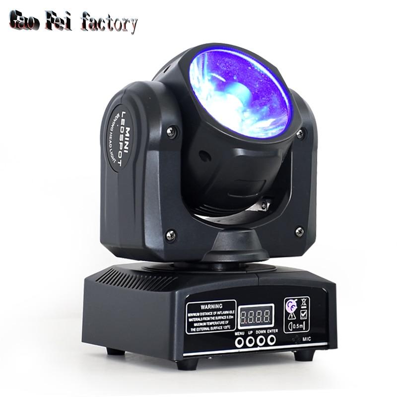 Disco Light DMX RGBW LED Stage Light Moving Head Beam 60W Party Lights DMX-512 Led Dj Christmas Sound Active LED Par DJ Light