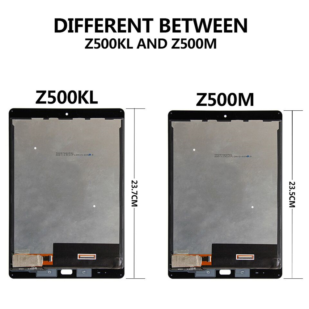 For Asus ZenPad 3S Z10 Z500M P027 Z500KL P001 ZT500KL LCD Display Touch Screen Digitizer Sense Assembly