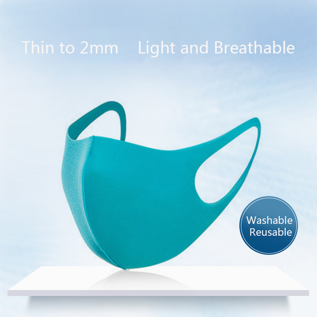 Dust Mask Breathable Unisex Sponge Face Mask Reusable Anti Pollution Face Shield Wind Proof Mouth Cover 1
