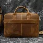 MAHEU мужской портфель, натуральная кожа, сумка для ноутбука, 15,6 дюймов, PC, сумка для компьютера, сумка для компьютера, Воловья кожа, мужской портфель, коровья кожа, мужская сумка - 6