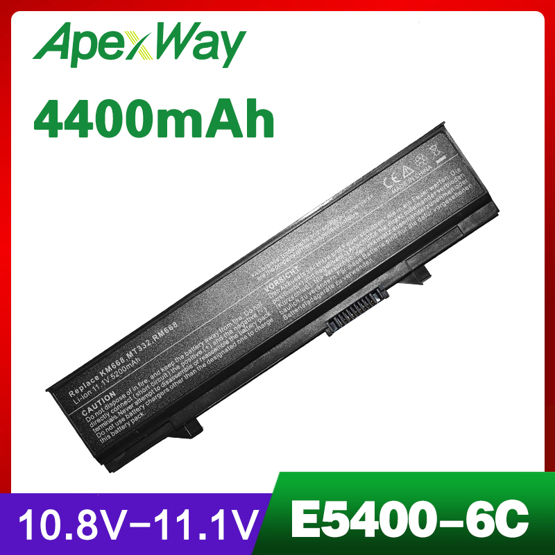 4400mAh bateria do portátil para DELL 312-0762 312-0769 451-10616 KM742 KM769 Latitude E5400 E5410 e5500 E5510
