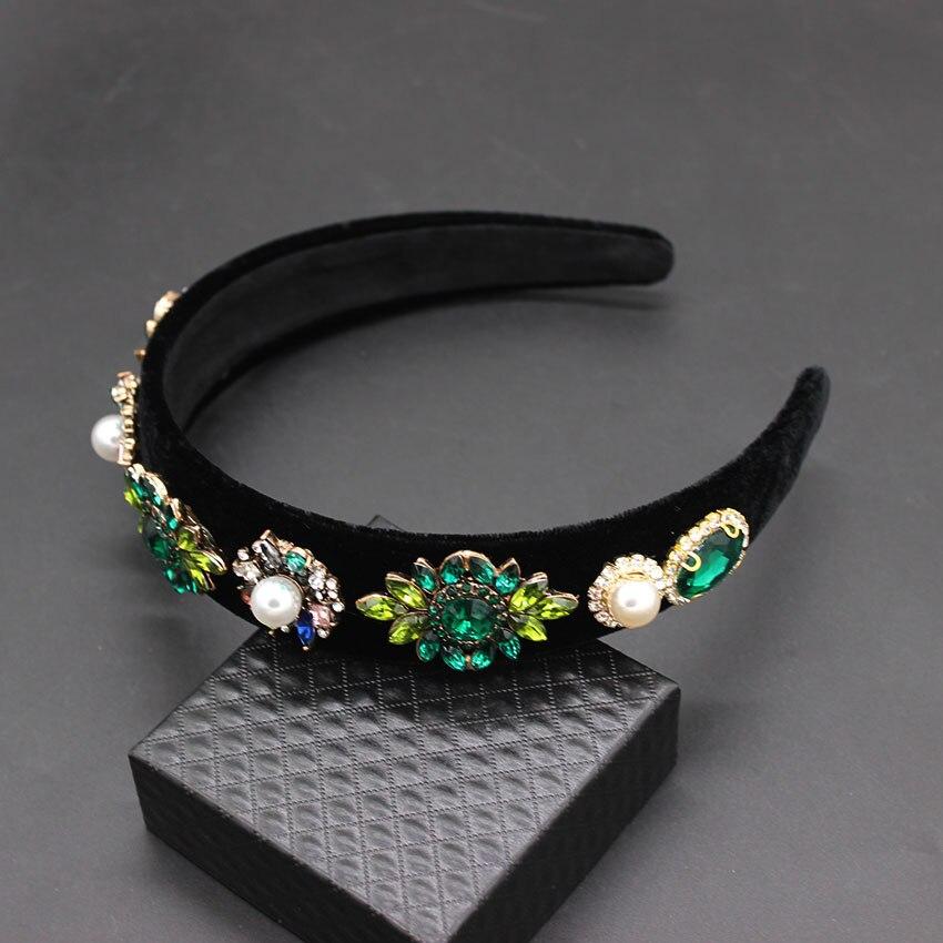 Headdress Tiara Wedding Hair Accessories Tiara Crystal Baroque Headband Hairbands Bijoux Jewelry Diademas Para El Pelo Mujer in Hair Jewelry from Jewelry Accessories