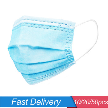 10/20/50PCS Children Protective Mask Breathable Kids Face Mask Prevent Droplet Dust Flu Mouth Face Mask Disposable 3-12Y