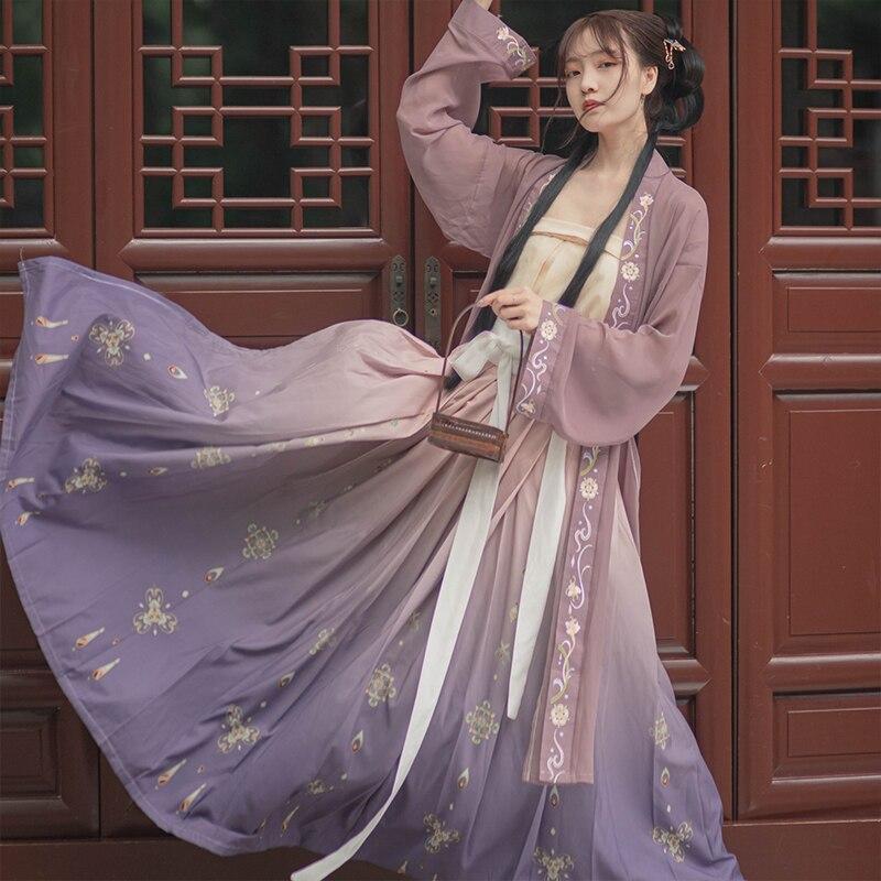 Kadın Hanfu çin antik geleneksel gelinlik sonbahar Fantasia karnaval peri kostümleri Tang hanedanı kıyafet bayan için