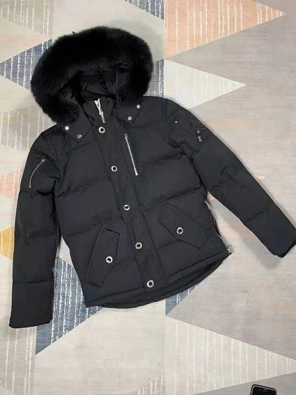 Real Fur 2019 Winter Jacket Women Down Jackets Women'S Men Duck Down Outerwear Coat Short Long Sleeve Parka Overcoats