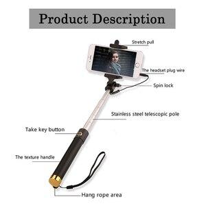 Image 2 - Selfiestick extensível para huawei p30 p20 companheiro 20 pro lite p inteligente 2019 nova 4 3 3i com fio selfie vara bastone selfi para movil