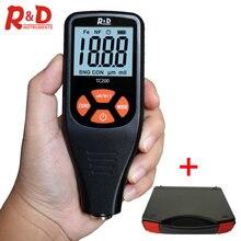 R& D TC200 тестер толщины автомобильной краски измеритель толщины покрытия 0,1 микрон/0-1500 FE/NFE краска инструмент с чехол для инструмента
