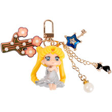 Doll pretty girl warrior key chain girl heart key chains car key chain bag pendant is a gift for a friend or classmate(China)