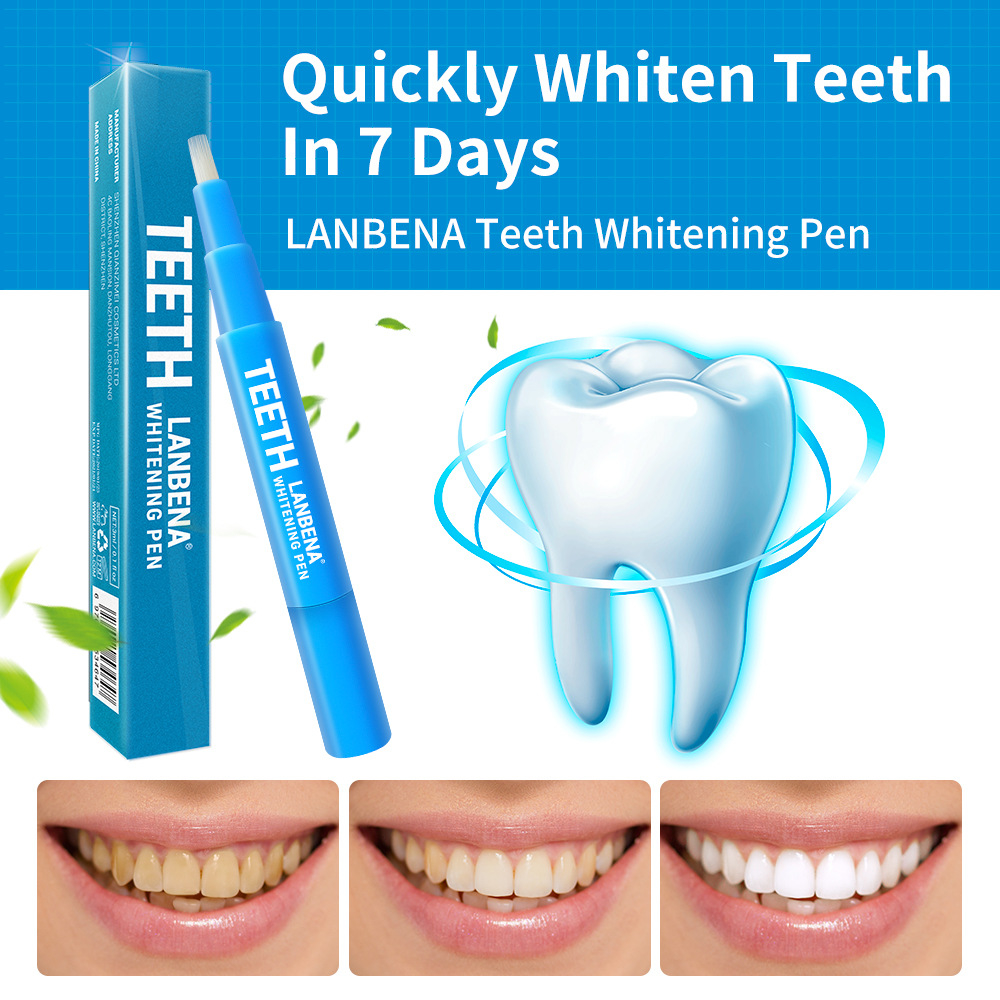 LANBENA White Teeth Whitening Pen gel dental Serum Repair teeth Gel dental stain remover Stains Oral Hygiene pen teeth3ML