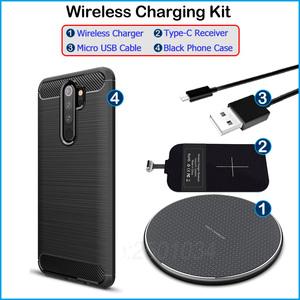 Image 5 - Wireless Charging for Xiaomi Redmi Note 8 Pro Qi Wireless Charger+USB Type C Receiver Adapter Gift TPU Case for Redmi Note8 Pro