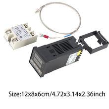 Contrôleur de Température numérique PID REX-C100 REX C100 thermostat + 40DA Relais SSR/Dissipateur De Chaleur + K Sonde Thermocouple Câble Ensemble