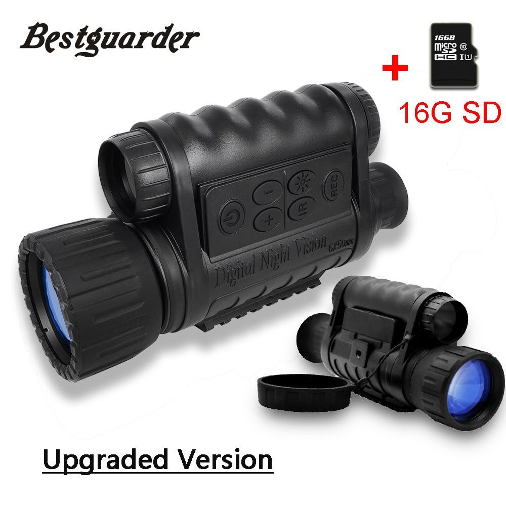 Bestguarder 6x50mm Vision nocturne télescope infrarouge 350m 5MP HD caméra chasse jumelles optique nuit vue portée IR monoculaire
