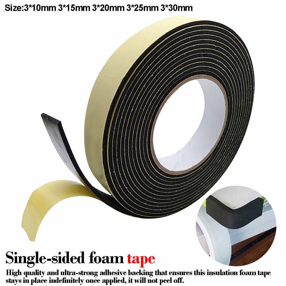 Única Face Adesiva Tape Tira Para A Janela de Tempo de Descascamento de Esponja De Espuma De Borracha À Prova D' Água Tira Vedação Da Porta 3mm