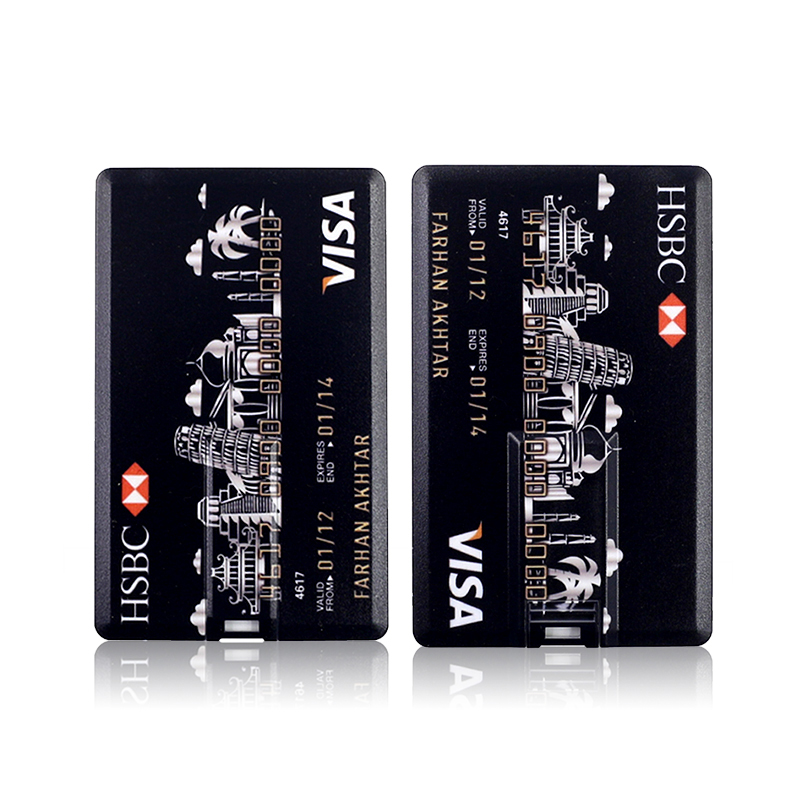 Credit Card Master Card HSBC American Express USB Flash Drive 64GB Pen Drive 32G 8G 16G Bank Card Model Memory Sticks Drive