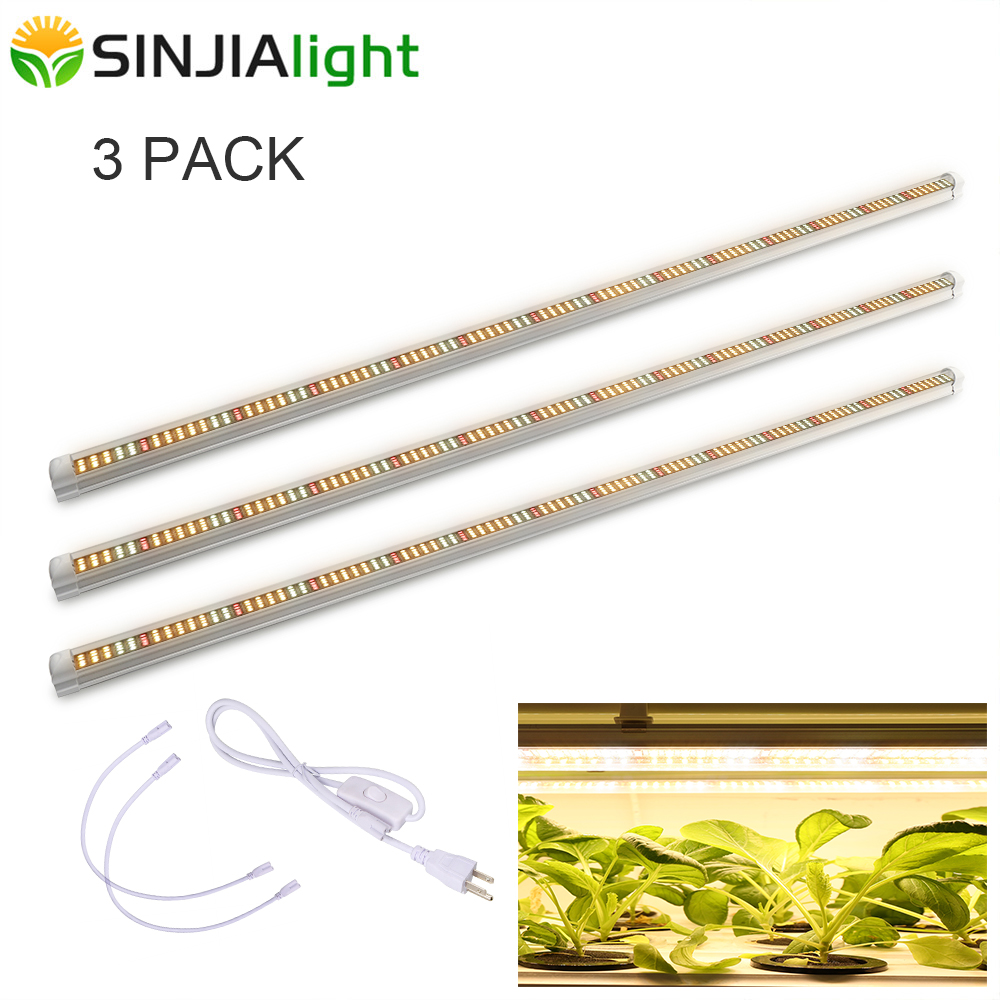 3pcs/lot T8 Tube Plant Lamps 120cm LED Grow Light Bar Full Spectrum LED For Cultivation Indoor Vegs Seeds Hydroponic Grow Tent