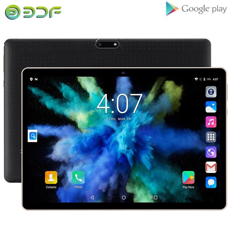 2020 новые 10,1-дюймовые Планшеты Android 7,0 четырехъядерный 3G планшет с телефонным звонком 32 Гб Wi-Fi Bluetooth Dual SIM GPS Планшетный ПК + клавиатура
