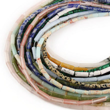13x4mm natural multi-cor imperial pedra solta espaçador grânulos cilindro imperador pedras artesanal diy jóias pulseira colar 15''