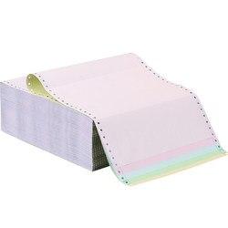 1000 Pcs Drie-Deel Twee Deel Afdrukken Papier Twee-Deel Computer Afdrukken Papier Naald Papier 241 Levering order Levering Orde