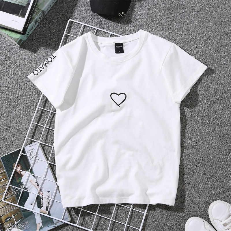 ファッションプリント女性カジュアル夏の Tシャツの女の子 2019 Tシャツ Tシャツルーズトップ Tシャツショートドロップ配送