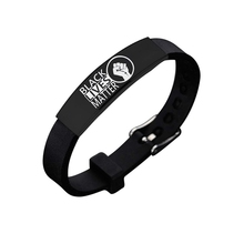 Black Lives Matter Bracelet Jewelry Stainless Steel Power Fist Silicone Bracelets Bangles American Protest Accessories