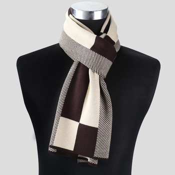 2020 Casual Cool Winter Scarves Men Scarf Warm Neckercheif Business Plaid Kint Scarves Men Cotton Wraps Male Sjaal Foulard