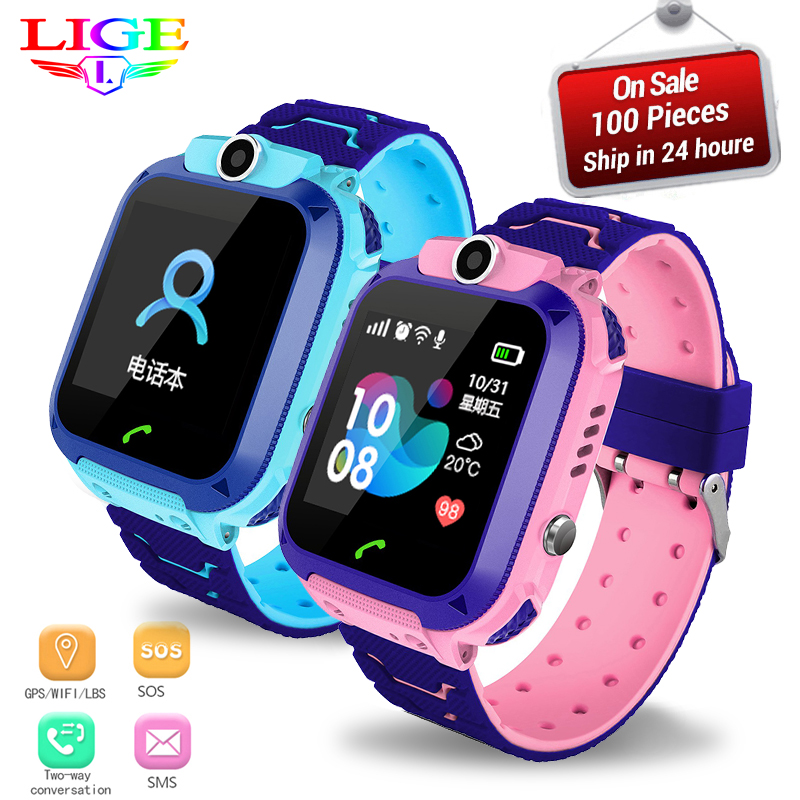 LIGE IP67 Waterproof Kids Watch LBS Tracker Child Anti-lost SOS Alarm Smart Watch Support 2G SIM Card Boys Girl Gift Watch Reloj