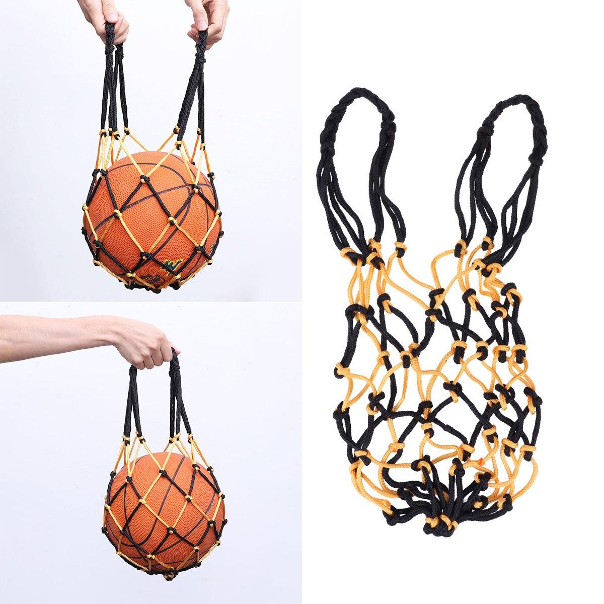 Сверхпрочная баскетбольная сумка, сетчатая нейлоновая сумка для баскетбола на шнурке, Сетчатая Сумка для переноски футбола, сумка для хранения на шнурке для баскетбола-2