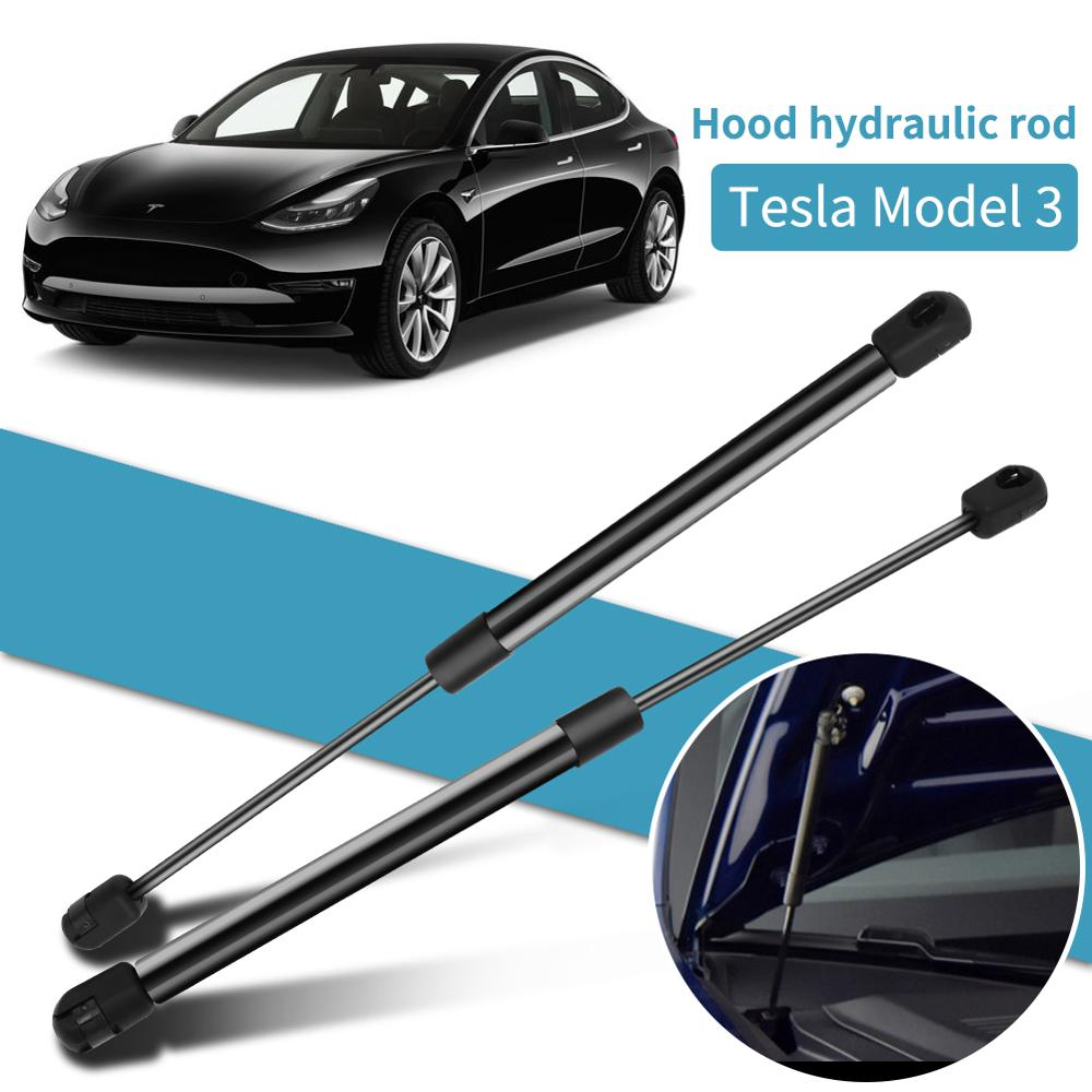 2Pcs Car Front Engine Hood Gas Spring Lift Supports Struts Car Hydraulic Rod For Tesla Model 3 Auto Accessories