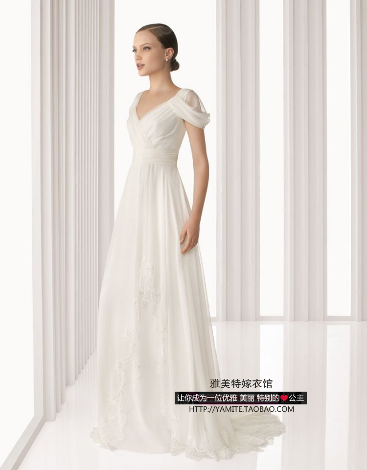 Cheap Free Shipping Robe De Soiree 2014 New Fashion Sexy Vestido De Festa Longo White Long Lace Cap Sleeve Evening Dresses