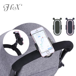 Mount-Bracket Stroller-Accessories Universal-Holder Mobile-Phone Adjustable Pink Baby
