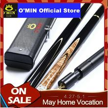 O'MIN GUNMAN Snooker Cue 3/4 Piece Snooker Cue Kit with O'MIN Case with Telescopic Extension 9.5mm 10mm Tip Snooker Stick Kit new arrival omin 3 4 snooker cue stick 9 8mm tips victory model 3 4 snooker cues case set china 2017