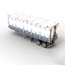 High-tech MARK 20ft pełna RC pojemnik trener MOC 27224 Mark hymn tri-drive MOD 26686 przyczepa naczepa wodoodporna (Box) cegły DIY zabawki