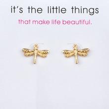 New Lucky Earrings Jewelry Animal Dragonfly Stud Earrings For Women Wedding Bride Jewelry Best Gift ana seymour lucky bride