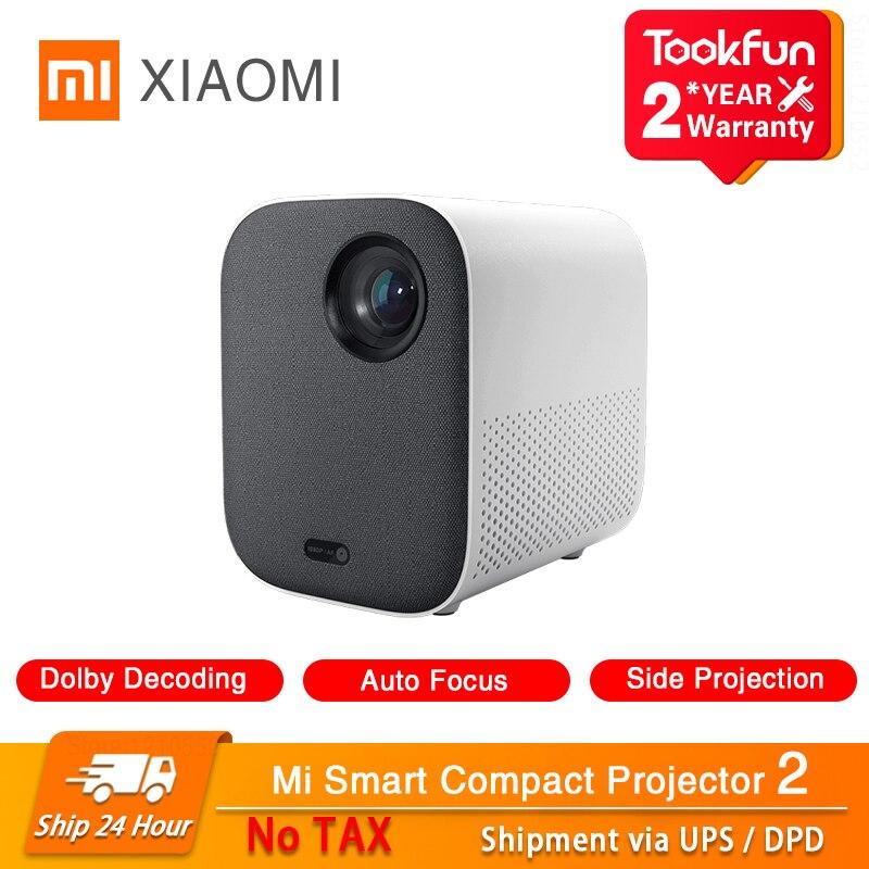 Новый проектор Xiaomi Smart Youth Edition 2 для дома 460 ANSI люмен 1080P Поддержка боковой проекции Автофокус Dolby ТВ звуковая коробка