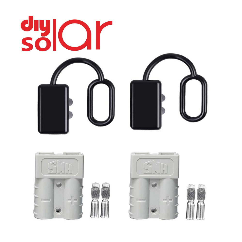 2Set <font><b>50</b></font> <font><b>120</b></font> 175 350 A Battery Charge Plug Quick Connector Kit Trailer Pair Connect Disconnect Winch Electrical Power Cables image