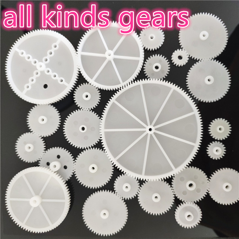 All Kinds Of M0.5 Plastic Single Layer Gears ABS Motor Shaft Teeth Gear DIY Toys Robot Helicopter Parts Dropshipping