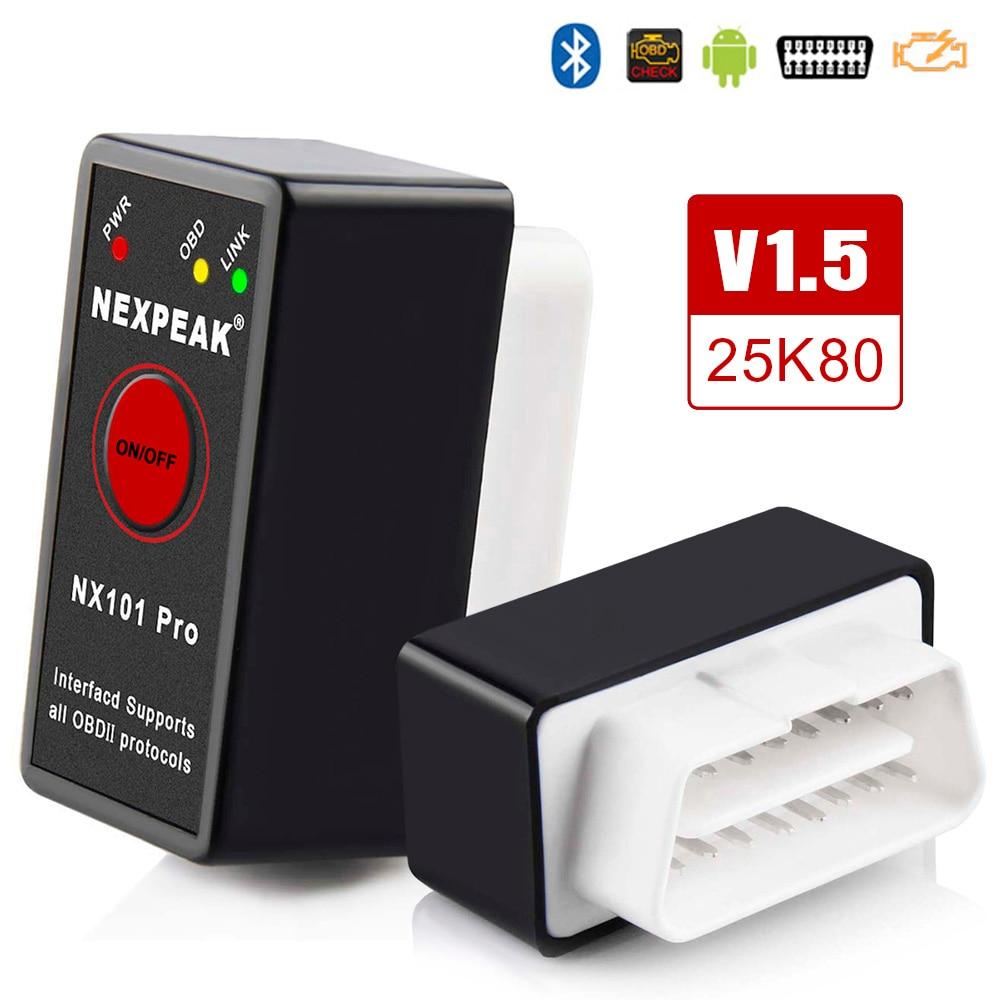 Универсальный OBD2 ELM327 V 1,5 сканер Авто OBDII сканирующий Инструмент OBD 2 ODB II ELM 327 V1.5 Bluetooth ODB2 диагностический инструмент автоматический сканер