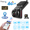 Автомобильный видеорегистратор Phisung K18, 4G, Wi-Fi, 2,0 дюйма, FHD 1080P, GPS, видеорегистратор с камерой заднего вида, видеорегистратор с двумя объектива...